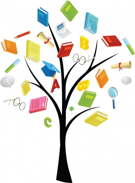 tree with books